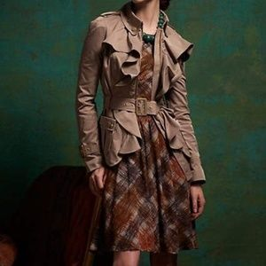 Anthropologie Maple strappy tartan
